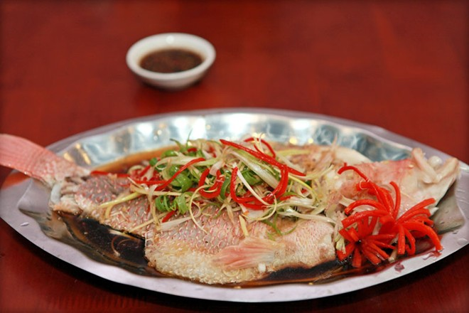 Món cá diêu hồng hấp xì dầu ngon