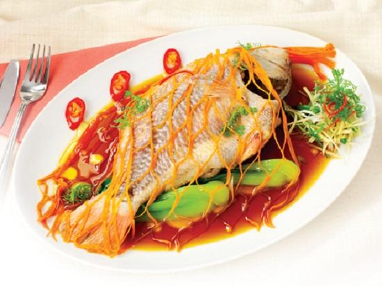 Gợi ý cách trình bày món cá diêu hồng hấp xì dầu