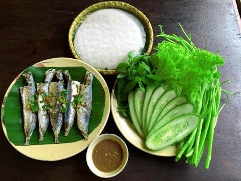 cá nục hấp cuốn bánh tráng ngon hấp dẫn