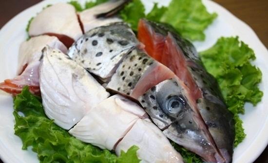 Nguyên liệu chế biến món lẩu cá hồi
